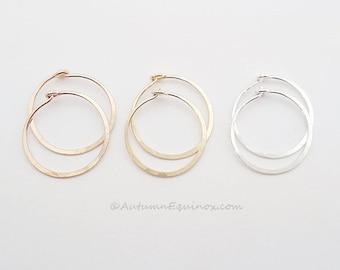 Small Hoop Earrings Sterling Silver Rose Gold