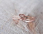 Double Love Knot Ring 14k Rose Gold Fill