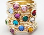 Birthstone Ring in 14k Gold Filled