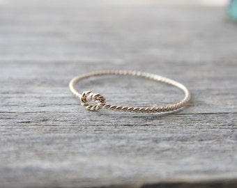 Twist Knot Ring 14k Gold Filled Twisted Knot Ring
