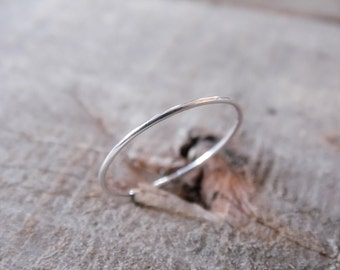 Skinny Stacking Ring Sterling Silver