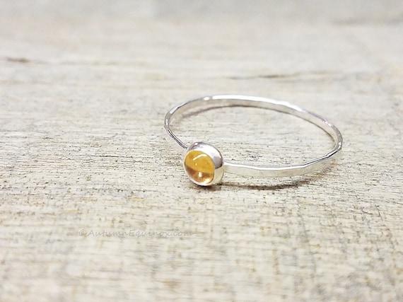 Orange citrine et grenat Coeur Lunette Bracelet jonc argent sterling .925