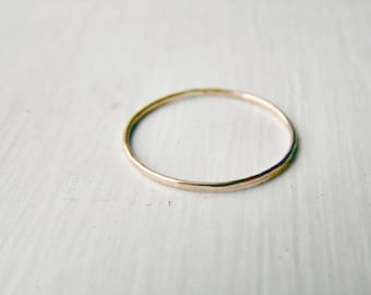 Thin Stacking Ring 14k Gold Fill