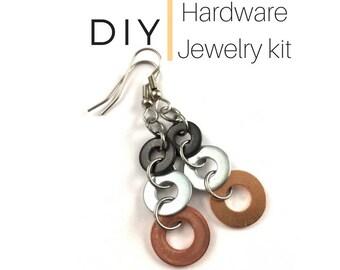 Earring Jewelry Kit Mixed Metal Hardware