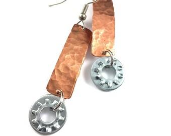 Dangle Earring Copper Hardware Jewelry Industrial Eco Friendly