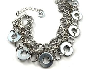 Cuff Bracelet Chain MultilStrand Hardware Jewelry