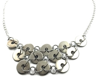 Statement Necklace Hardware Jewelry Industrial Washers