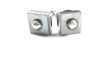 Stud Earrings Geometric Hardware Jewelry