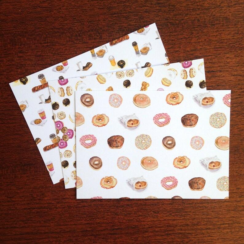 Donut Postcard Dozen  I Love Donuts Donut Mandala Donuts image 0