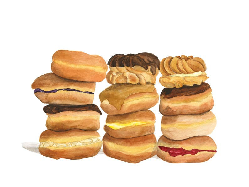 Reserved for Mary: Donut Stacks Greeting Cards   Set of 6 image 0