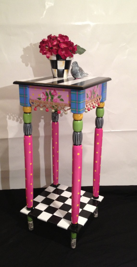 Whimsical Painted Furniture Whimsical Painted Table Etsy