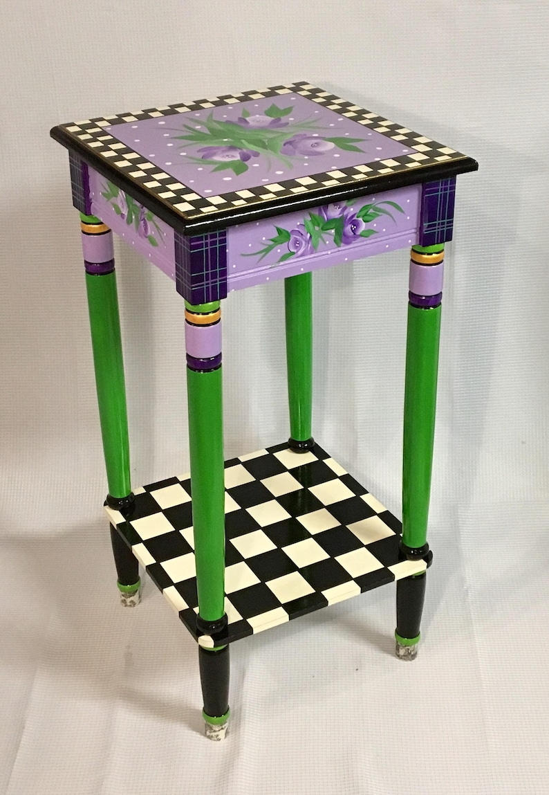 Merveilleux Painted Furniture, Whimsical Painted Furniture, Whimsical Painted Table //  Whimsical Painted Furniture // Custom Painted Table Hand Painted