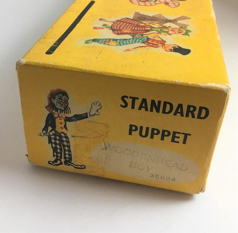 Vintage Pair of Pelham Puppets in Original Box Little Boy and Little Girl