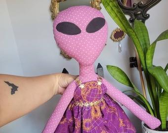 Purple Alien Doll