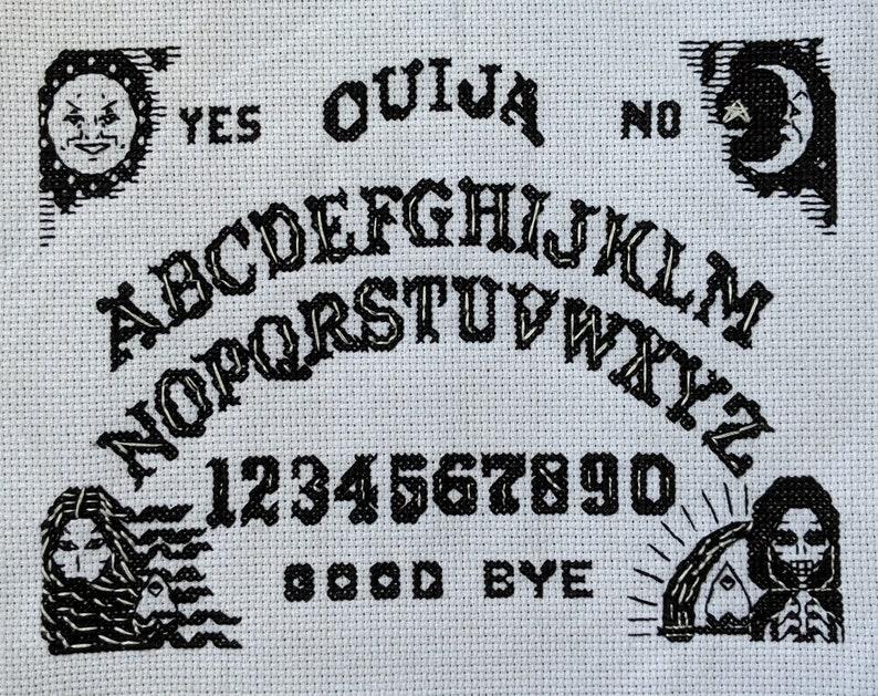 PDF Ouija Board Cross-Stitch PATTERN Download Spirit Sun Moon Halloween  Seance Crossstitch Cross Stitch Scary Spook Witch Ghost Planchette