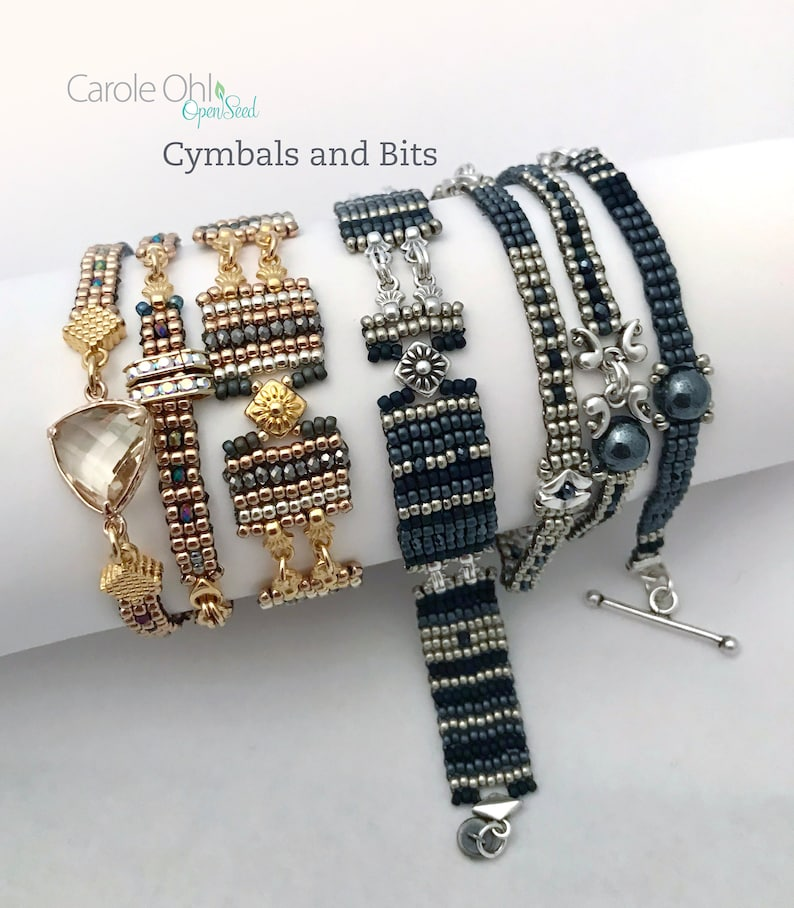 Cymbals and Bits Cuff and Wrap Tutorial by Carole Ohl image 0