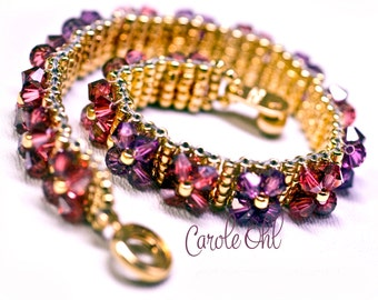 FlowerBox Crystal Bracelet Tutorial by Carole Ohl