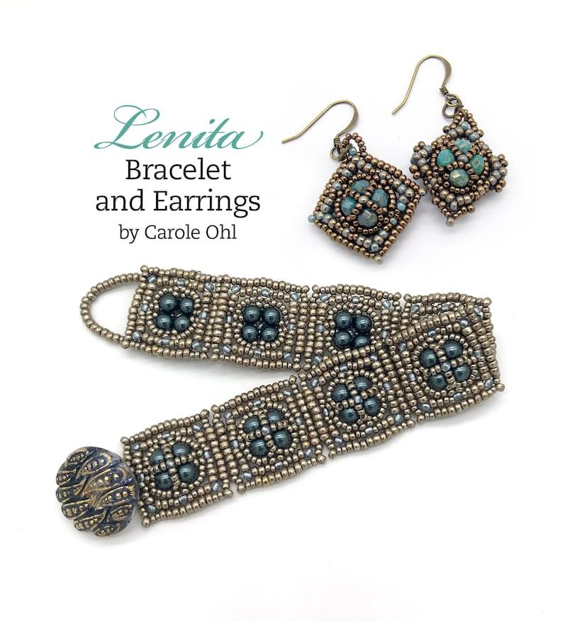 Lenita Bracelet and Earring Beadweaving Tutorial by Carole Ohl image 0