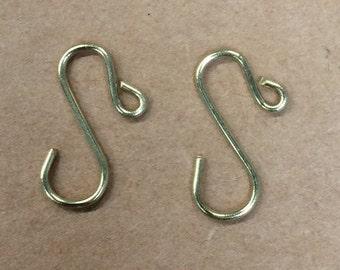"Handmade mini gold ornament hooks 3/4"", ornament hooks"