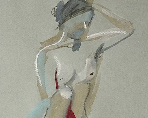 Nude #1532- original watercolor painting by Gretchen Kelly