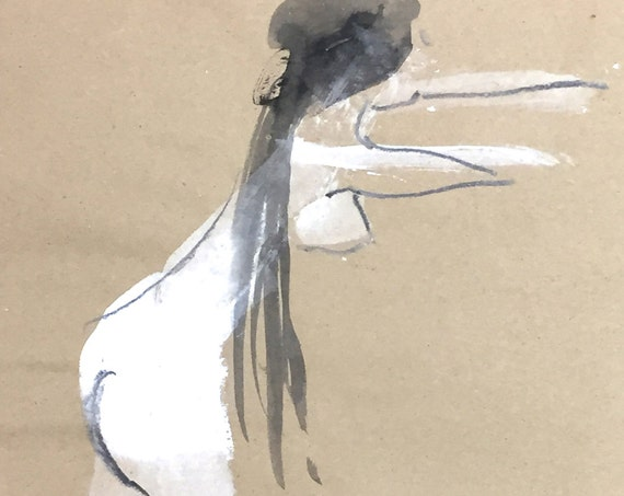 Nude painting of One minute pose 97.1 - Original painting by Gretchen Kelly