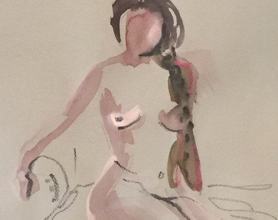 Nude painting #1667  Original painting by Gretchen Kelly