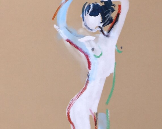 Nude painting- One Minute Pose 98.2 -painted sketch by Gretchen Kelly