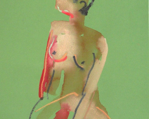 Nude painting#1387  Original painting by Gretchen Kelly
