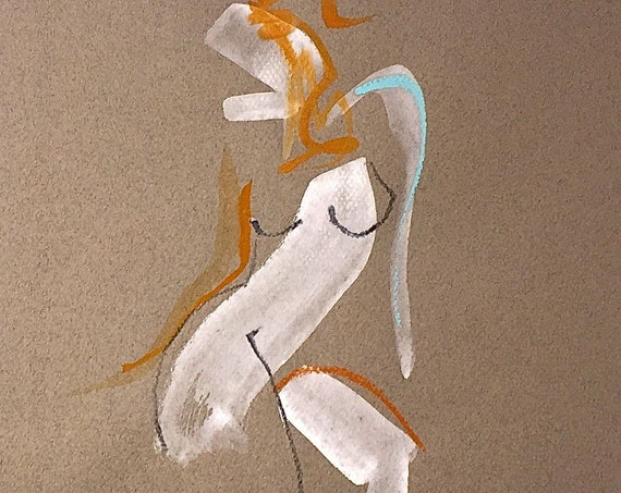 Nude painting of One minute pose 121.1 Original painting by Gretchen Kelly