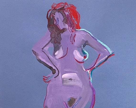 Nude painting of One minute pose 121.5 Original painting by Gretchen Kelly