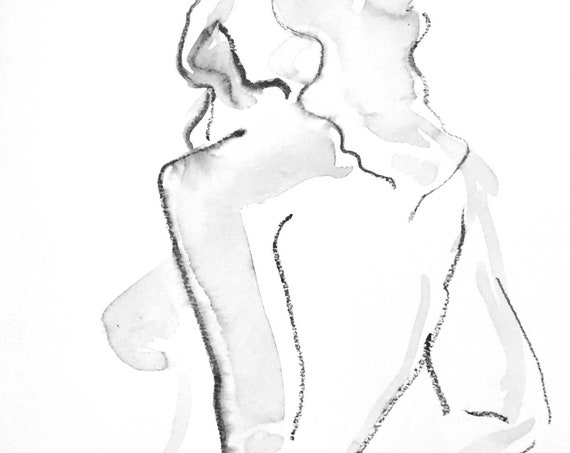 One Minute Pose 125.4 original painting of nude by Gretchen Kelly