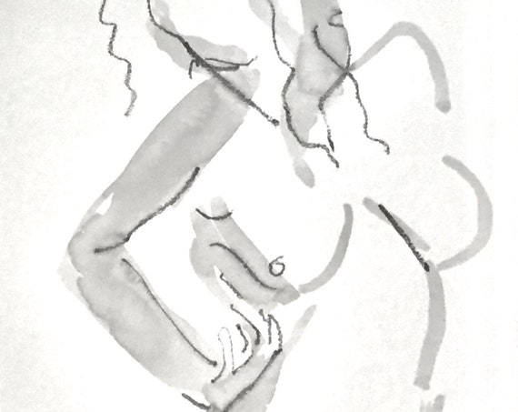 One Minute Pose 125.6 original painting of nude by Gretchen Kelly