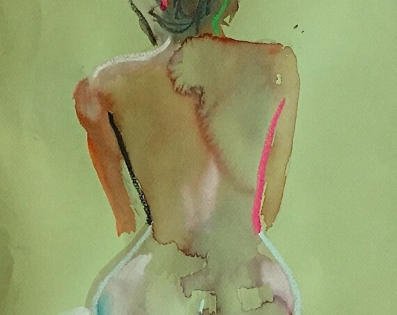Nude painting#1552  Original painting by Gretchen Kelly