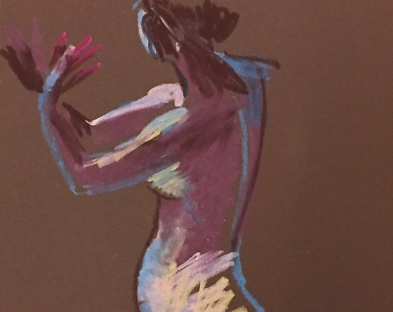 Nude #1352 Original pastel painting by Gretchen Kelly