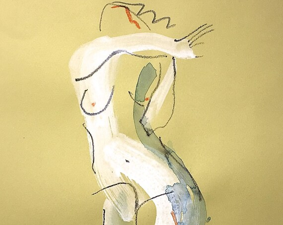 Nude painting of One minute pose 121.6 Original painting by Gretchen Kelly