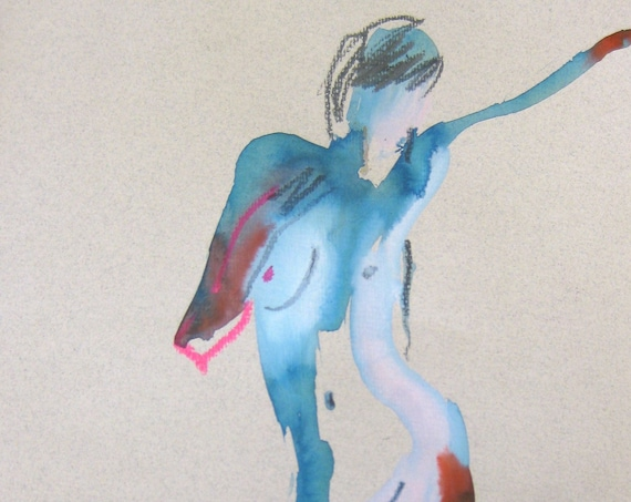 Nude painting of One minute pose 105.10 - Original nude painting by Gretchen Kelly