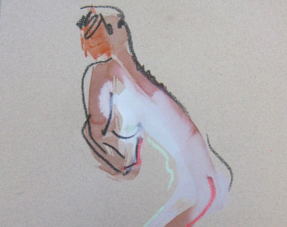 Nude painting of One minute pose 105.4 - Original nude painting by Gretchen Kelly