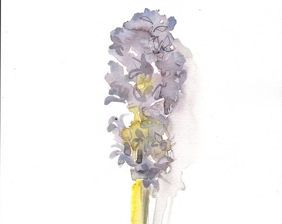 Original watercolor painting -Hyacinth- original by Gretchen Kelly