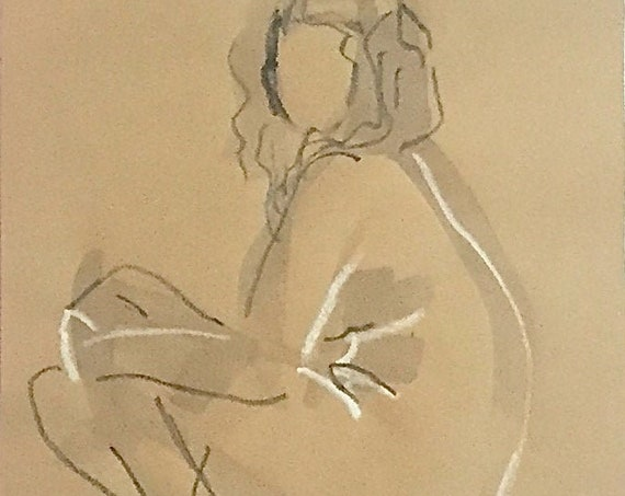 Nude painting #1654  Original painting by Gretchen Kelly