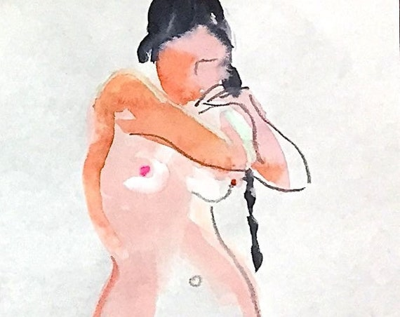 Painting of Nude #1562- Original nude painting by Gretchen Kelly