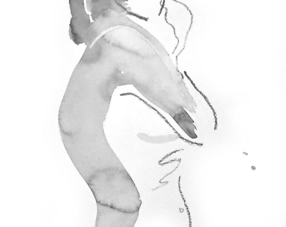 One Minute Pose 125.5 original painting of nude by Gretchen Kelly
