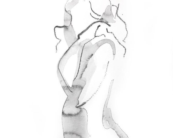 One Minute Pose 125.2 original painting of nude by Gretchen Kelly