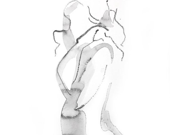 Nude painting of One minute pose 125.2 - Original nude painting by Gretchen Kelly