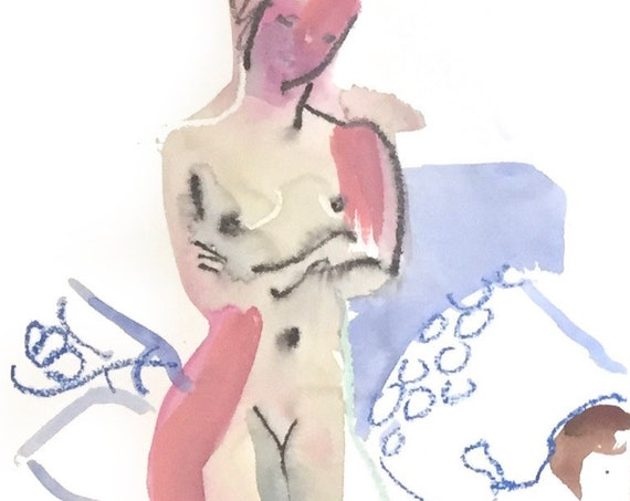 Nude painting #1669  Original painting by Gretchen Kelly