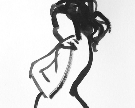 One Minute Pose 133.6 original painting of nude by Gretchen Kelly