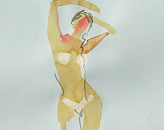 Nude painting of One minute pose 106.2 - Original nude painting by Gretchen Kelly