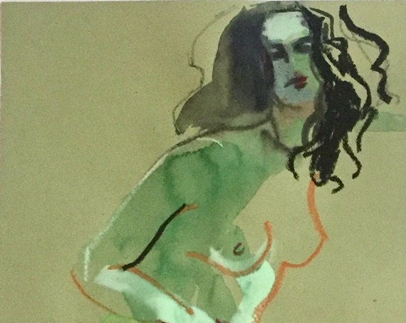 Nude painting #1657  Original painting by Gretchen Kelly
