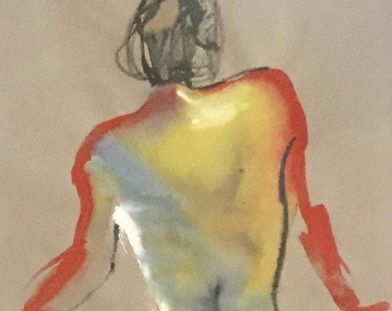 Nude painting #1659  Original painting by Gretchen Kelly