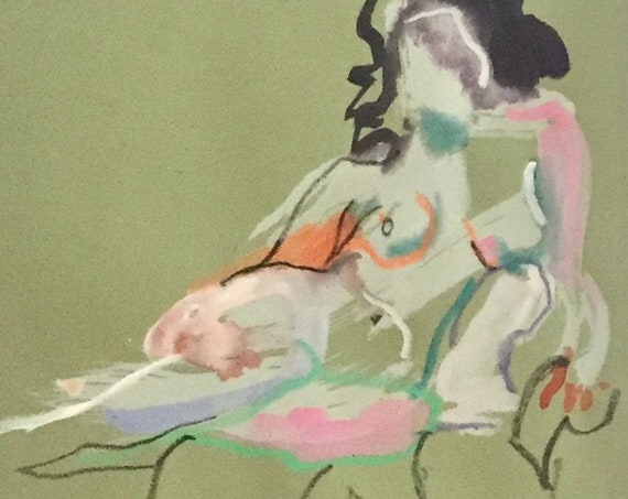 Nude painting #1660  Original painting by Gretchen Kelly