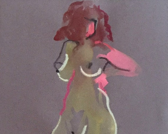 Nude painting #1658  Original painting by Gretchen Kelly